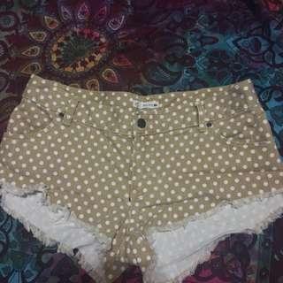 Rusty polka dot shorts