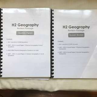 Hwa Chong Junior College H2 Geography Revision Package (Question and Answer Booklets)