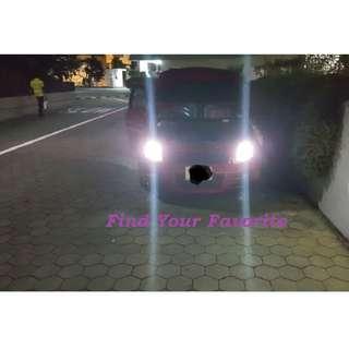 Suzuki Swift on 4300K temp colour warm LIGHT YELLOWISH TOWARDS SLIGHT pale WHITE-ISH. Halogen bulb - cash&carry