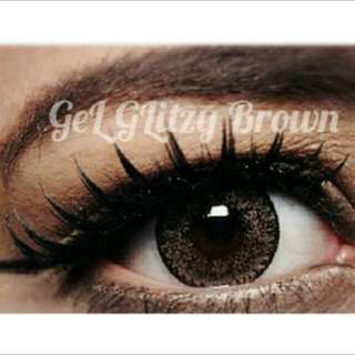 Softlens gell glitzy brown