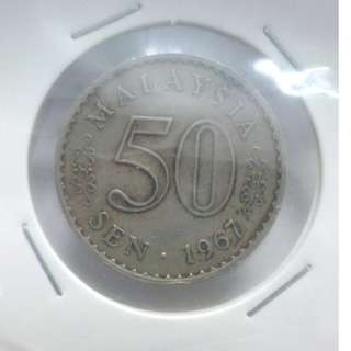(CN 0001-1) 1967 Malaysia 50 Cents