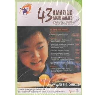 FREE Postage 43 Amazing Math Games Study CD-ROM Mathematics Training Education
