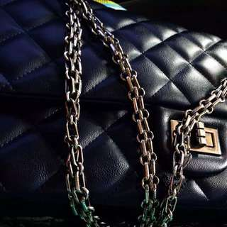 Chanel lamb leather