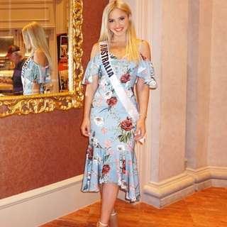 Rodeo Show Blue Floral Dress
