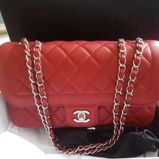 CNY Promo $3100! Full Set LNIB Chanel Medium Flap