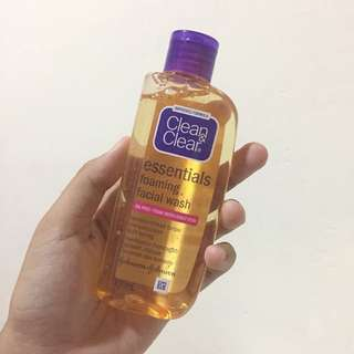 C&C essentials foaming facial wash