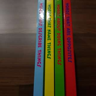 Words learning books with CD