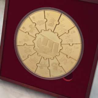 Marina Bay Sands Gold Zodiac Collectable Coin