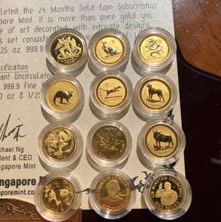 Highly Collectible Beautiful Pure 24 pcs Gold Coins