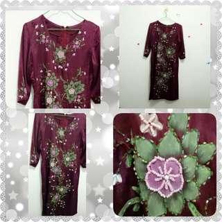 Purple dress on payet