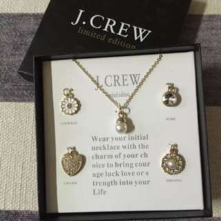 J Crew Necklace with Charms box set