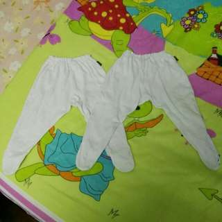 Baby covered toe pants
