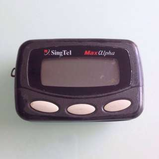 Vintage Singtel Maxalpha Pager