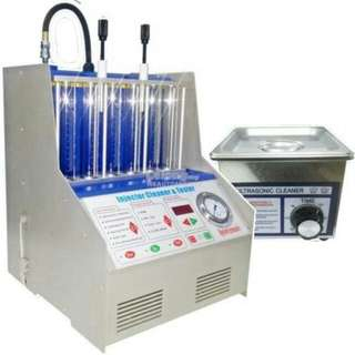HKUNICO INJ-6AG, Fuel injector tester c/w s/steel ultrasonic cleaner