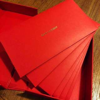 SAINT LAURENT VIP RED POCKET BOX SET 利是封 6個 / RED PACKET / 6 EVENLOPES / 紅包 / 限量 / 名牌