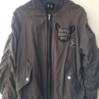 bomber jacket ash grey