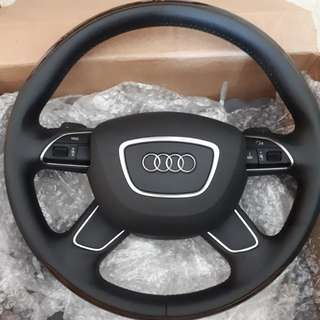Original Audi 4 spoke steering wheel for A4 and A5