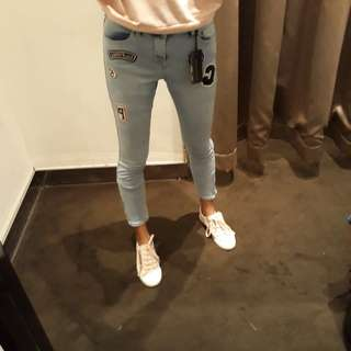 Hannah Low Rise Skinny Crop size 34