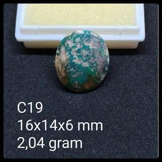 Batu Pirus Persia C19 Natural Pyrus Turquoise Akik