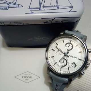 Original Boyfriend Chronograph Smokey Blue Leather Watch