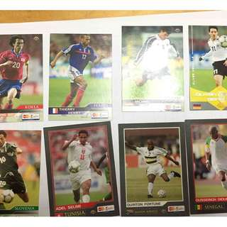 soccer card TV card 2002 - thierry henry ballack myung bo neuvilleselimi zahovic forune