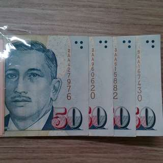 💱All AAs $50 Portrait Paper Note💱
