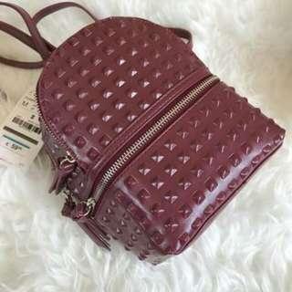 ZARA Embossed Stud Mini Backpack