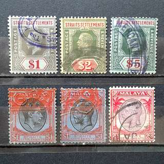 Straits Settlement valuble stamps