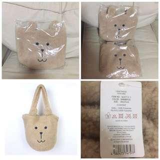 SALE 60% Off - BNWT Authentic Craftholic MOCO RAB BEIGE TOTE Bag