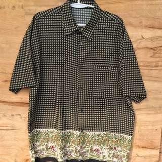 Silk Type Black Vintage Polo