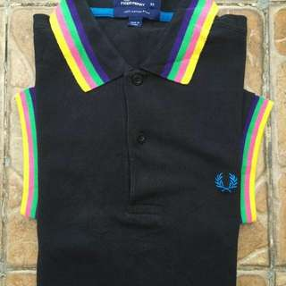 FRED PERRY DEGRADED COLLAR RAINBOW