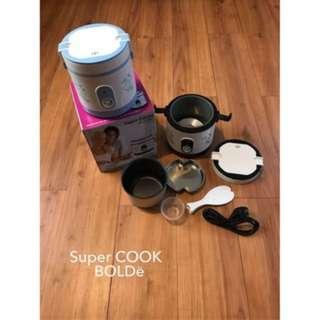 Super Cook Rice Cooker Mini Bolde Original Kapasitas 0,6 Liter
