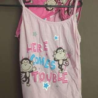 """Here comes trouble"" pyjamas"