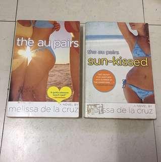 2 Melissa de la Cruz books: The Au Pairs & Sun-kissed
