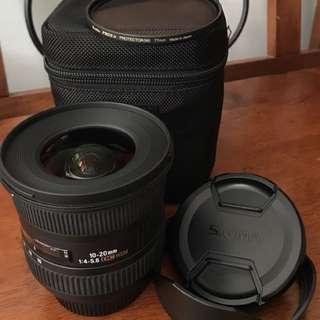 Sigma 10-20 f/4-5.6 EX DC HSM ( Nikon Mount) with UV Filter