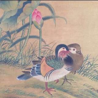 一生発発発🤑発発🤑🤑30% OFF GREAT CNY GIFT/SALE {Collectibles Item} 清朝古画 Qing Dynasty Chinese Ancient Painting On Silk On Scroll -【花鳥圖】 軸画長7尺2寸(218cm) 寛2尺7寸(78cm) - 上睿(1634-不詳)清代康熙年间僧人。字静睿、浔微、一作浔浚、浔睿,号目存、蒲室子、童心和尚、童心道人、童心行者、卧云人。江苏吴县(今江苏苏州)人。博学多才,工诗文。