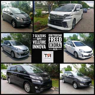 MPV Vellfire and New Innova 7 Seaters Rental