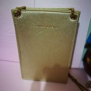 Charles&Keith cute golden bag