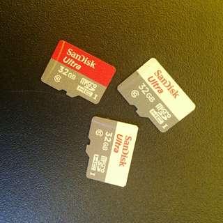 3pcs Sandisk memory 32gb original
