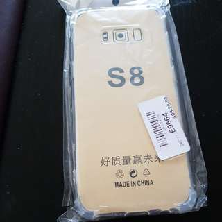 Samsung S8 transparent back case cover