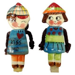Pre-Owned - Fridge Magnet - Boy and Girl - Blue