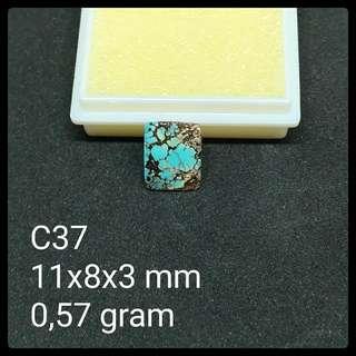 Batu Pirus Persia C37 Natural Pyrus Turquoise Akik