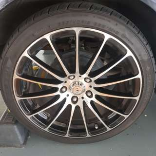 18 inch tyres n rims to go
