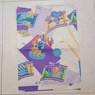 1002 NEW Purple Universal Studio Japan Paper Bag (No Handle)