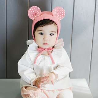 🐰Instock - pink bear Bonnet hat, baby infant toddler girl children glad cute 12345