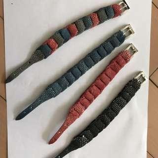 Stingray skin bracelet