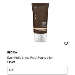 Becca ever matte shine proof foundation