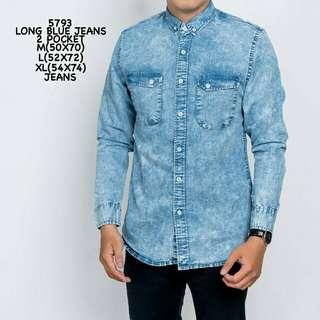 Long Blue Jeans 2 Pocket