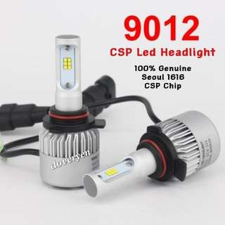 9012 HIR2 Px22d CSP Led Headlight   ★Fog / Headlight Usage  ★100% Genuine Seoul 1616      CSP Chip     2 Sided x 12 Leds  ★Ultra Bright   ★Constant Current      Built-in Driver    ★Mini Size     Plug & Play  ★6.5k White      4000 Lm / Bulb 36w  In Stock