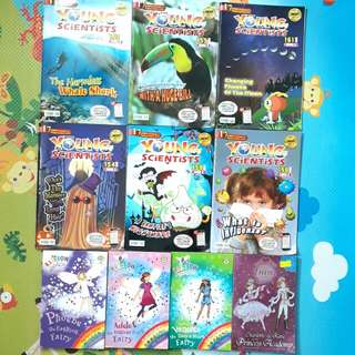 PL YOUNG SCIENTIST AND RAINBOW MAGIC BOOKS